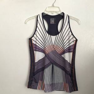 LUCKY IN LOVE Sz M Multi-Color Athletic Tank Top